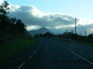 Croagh Patrick marks County Mayo as the storied Ben Bulben does County Sligo